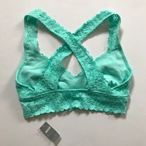 739180bc887 aerie Intimates   Sleepwear - NWT AERIE • mint green cross back lace  bralette